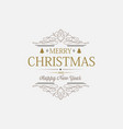 white greeting merry christmas decorative card vector image vector image