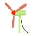 windmill icon cartoon style vector image