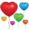 Heart Baloon Color set vector image