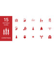 15 christmas icons vector image vector image