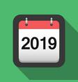 2019 calendar flat icon 2019 calendar cover sheet vector image vector image