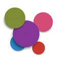 abstract colored paper circles and shadows vector image vector image