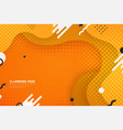 abstract colorful landing page web shape vector image