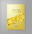 annual report template design vector image vector image