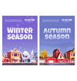 autumn and winter seasons posters vector image