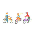 bike riders wearing hipster clothing set vector image vector image