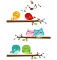 Birds singing on the branch vector image