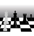 black and white pieces of chess vector image vector image