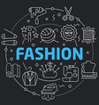black line flat circle fashion vector image