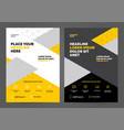 brochure layout template design vector image vector image