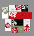 Business cards design pomegranate background