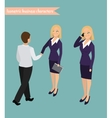Business woman management vector image