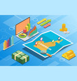 cameroon isometric financial economy condition vector image vector image