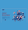 career development isometric landing page banner vector image