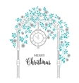 Christmas arch with roses vector image vector image