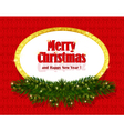 christmas background with sparkling frame vector image vector image