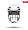 Classic white Goalkeeper Hockey Helmet isolated on vector image vector image