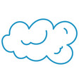 cloud in the sky vector image vector image
