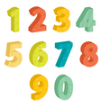 Colorful numbers vector image vector image