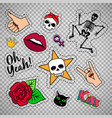 colorful quirky patches on transparent background vector image vector image