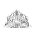 concept of building rendering of 3d vector image