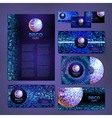 corporate identity design Disco background vector image vector image
