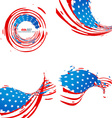 creative collection of american independence day vector image vector image