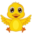 Cute baby duck cartoon vector image vector image