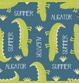 cute crocodile pattern vector image