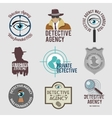 Detective label set vector image vector image
