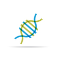 DNA molecule icon vector image