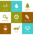 Ecology and nature conservation icons vector image vector image