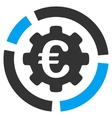 Euro Diagram Configuration Flat Icon vector image