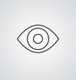 eye outline symbol dark on white background logo vector image vector image