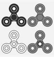 fidget spinner vector image vector image