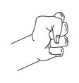 fist hand power icon vector image vector image