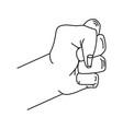 Fist hand power icon