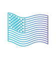 flag united states of america wave side in color vector image vector image