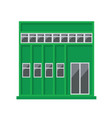 green building icon vector image
