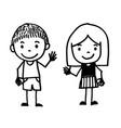 hand drawn kid cartoon vector image vector image