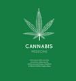 hand drawn symbol cannabis marijuana vector image