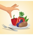 Healthy food design Organic icon Colorfull vector image