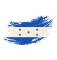 honduras flag grunge brush background vector image vector image