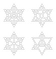 icon with kabbalah symbol merkaba vector image vector image