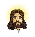 jesus christ the holy son of god cartoon mascot vector image vector image