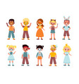 kids funny makeup boys and girls face vector image vector image