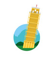 leaning tower of pisa with nice landscape vector image vector image