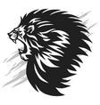 lion head roaring logo esport mascot vector image vector image