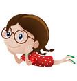 little girl wearing glasses vector image