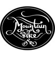mountain bike lettering vector image vector image